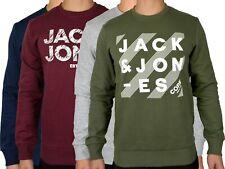 Jack & Jones Men's Chest Logo Long Sleeve Crew Neck Sweatshirt
