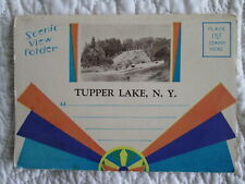c1920s Tupper Lake Adirondacks New York Scenic View folder w/ 12 images