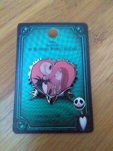 Disney The Nightmare Before Christmas Jack & Sally Lenticular Enamel Pin