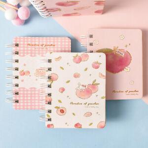 """Peach Bunny Coil"" 1pc Cute Small Diary Pocket Notebook Memo Mini Journal Spiral"