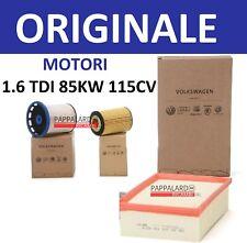 KIT TAGLIANDO 3 FILTRI ORIGINALI AUDI A3 Q2 VW T ROC GOLF 7 SEAT LEON 1.6 TDI