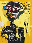 JEAN MICHEL BASQUIAT Cabeza (1982) (62x45cm), CANVAS, POSTER FREE P&P