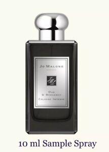 Oud & Bergamot Cologne Intense Jo Malone Unisex 10 ml Sample Spray