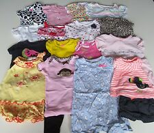 Used 25 PC. LOT OF NEWBORN BABY GIRL CLOTHES 0-3 MONTHS EUC/VGUC