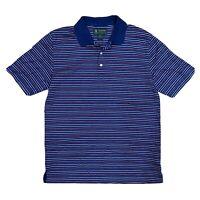 Brooks Brothers   St. Andrews Links Men's M Medium Striped S/S Golf Polo Shirt