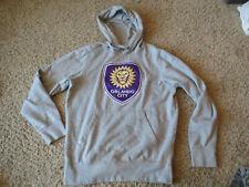 MLS ORLANDO CITY SC  gray HOODED hoodie SWEATSHIRT soccer Antigua, Medium