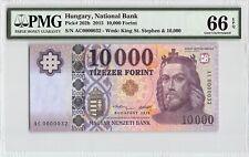 Hungary 2015 P-202b PMG Gem UNC 66 EPQ 10,000 Forint *Low S/N 32*