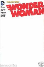 Blank WONDER WOMAN 36 NEW DC 52 Blank Convention Sketch Variant 9.4 NM