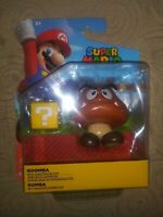Super Mario Goomba Action Figure Question Block Nintendo Game Jakks Pacific Toy