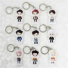 KPOP EXO Key Chain Cartoon Chanyeol Sehun Lay Cute Acrylic Keyring Ring Keyfob