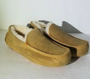 NEW UGG MEN'S ASCOT SIZE: 10,11,12 CHESTNUT MARBLE 1016593 MOCCASIN SLIPPERS