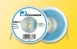Viessmann 68613 Kabel, 0,14 mm², blau, 25 m, Grundpreis 1 m = € 0,16