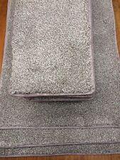 45 x 21cm 12x STAIR PADS BROWN FLECK - thick pile BLEACH CLEANABLE #2050