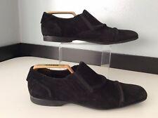 Cesare Paciotti Mens Black Suede Leather Shoes, Loafers Uk 5 Eu39, Vgc