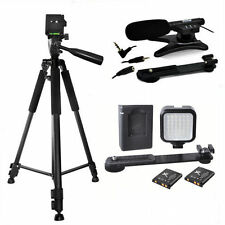 "72"" TRIPOD + 36LED LIGHT + MICROPHONE FOR CANON EOS REBEL T3 T3I T4 T4I T5 T5I"