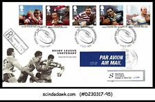 Great Britain - 1995 Rugby League Centenary - 5V - Fdc Registered