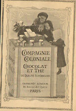 PARIS OPERA PUBLICITE COMPAGNIE COLONIALE CHOCOLAT & THE 1908