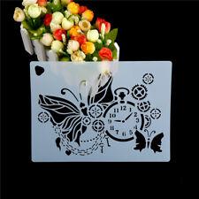 Butterfly Uhr Form Kuchen Schablonen Umwelt Kunststoff-Spray Kuchen Schimmel ZP