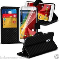 Leather Executive Quality Book Wallet Phone Case✔SP for Motorola Moto G4 Play