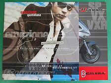 GILERA RUNNER SP125 SP180 2T VX125 VXR200 4T DEPLIANT BROCHURE CATALOGO