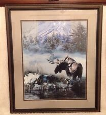 Northern Light - Moose, Rod Frederick Signed And Numbered