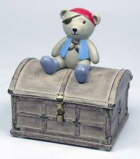 Baby Boy Pirate Teddy Prince Baby Trinket Box KEEPSAKE Christening Birth Gift