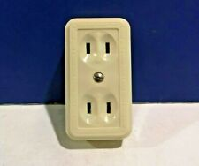 2-PK IVORY Single Gang Bakelite Double Table Tap Outlet 81I NEW WOW!