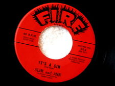 SLIM AND ANN~IT'S A SIN~YOU'RE GONNA REAP~VG++~FIRE 503 ~ NORTHERN SOUL 45