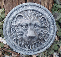 "Lion plastic mold casting garden plaster concrete mould 9.5"" x up to 2"" thick"