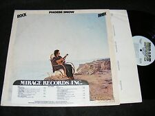 PHOEBE SNOW Rock Away LP 1981 with Timing Strip ADVANCE ISSUE Mirage US Iss Labe