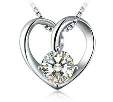 """S925 Sterling Silver Pure Mom's Love Heart Pendant Gift for Wife Mom &18"""" Chain"""