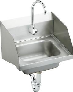 ELKAY CHS1716LRS1 Wall Mount, 1 Hole, Manual, Stainless Steel, Hand Sink