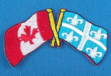 Canada / Quebec Flag Patch Embroidered Iron On Applique - Small