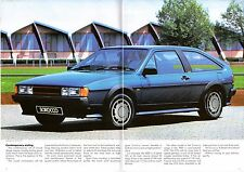 Volkswagen Scirocco Mk2 1985-86 UK Market Sales Brochure GTX GT
