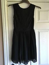 NEW LOOK 147 I LOVE FASHION LADIES BLACK LACE DRESS SIZE 10