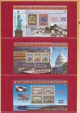AA15, Grönland 50 Jahre Ende II.WK,Mi Bl 6-8,in illustrierter Mappe **,KW 25,00€