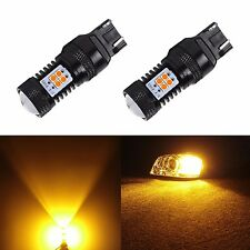 JDM ASTAR 2pc Super Bright 7443 7440 Amber 3030 SMD LED Turn Signal Lights Bulbs