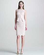 NWT Authentic Emilio Pucci Sleeveless Lace Peplum-Front Dress IT40(US6) - $2,198