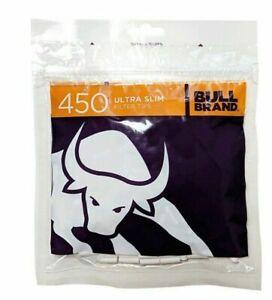 ULTRA SLIM Filter Tips 450 Bull Brand Cigarette Tobacco Resealable BAGS