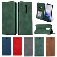 For One Plus 7T 7 Pro 7T Pro Matte Folio Wallet Leather Flip ID Card Cover Case