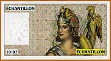 France, French Test Note, Echantillon, 10103, Lady Warrior FRAN-103