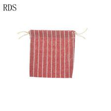 1pc cotton storage bag Pure color stripe drawstring travel makeup bag shoesGT