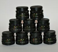 SET OF NINE RUSSIAN USSR HELIOS-44M lenses, f2/58mm, M42 MOUNT (1)