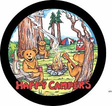 Happy Campers spare tire cover for Jeep, RV, Camper & more (all sizes available)