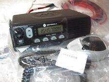 MOTOROLA CM300 VHF 45 WATT 32 CHANNEL RADIO WITH  NEW ACCESSORIES HMN1056D