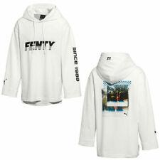 Puma x Rihanna Fenty Womens Long Sleeve Graphic Hoodie White 577436 01 A91B