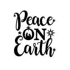 Peace on Earth Nativity Unmounted Rubber Stamp - Religious Christmas #26