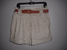 TWENTY ONE Junior Women's Brown Houndstooth Plaid Shorts Size M/M  NWT