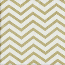 Glitz Chic Chevron with Metallic Gold on White Quilting Fabric FQ or Metre *New*