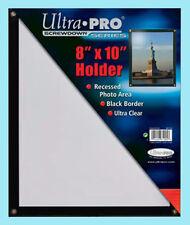 "ULTRA PRO BLACK FRAME 8""x10"" SCREWDOWN PHOTO HOLDER New Clear Display Recessed"